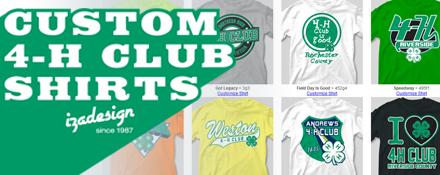 Custom 4-H club shirts from IZA Design