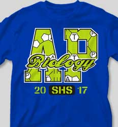 AP Biology Shirts - AP Letters cool-332a1