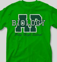 AP Biology Shirts - Big Letter desn-351o3