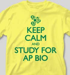AP Biology Shirts - Keep Calm desn-613o2