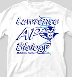 AP Biology Shirts - Mascot AP cool-337m1