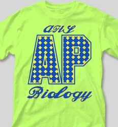 AP Biology Shirts - X-C Pattern desn-528x7