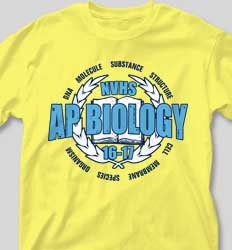 AP Biology Shirts - Honor Crest cool-59h5