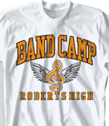 Band Camp T Shirt - Band Wings desn 479g1