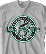 Band Camp T Shirt - Team Logo clas-979t6
