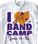 Band Camp T Shirt - I Love Band Camp desn-476l1
