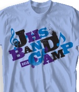 Band Camp T Shirt - Randomizer desn-301r4