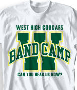 Band Camp T Shirt - Varsity Arch desn-352v2