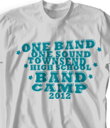 Band Camp T Shirt - Statement clas-787u3