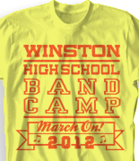 Band Camp T Shirt - Announcement desn-471a1