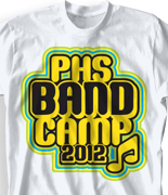 Band Camp T Shirt - Glow Camp desn-473g1