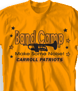 Band Camp T Shirt - Stars Fun Day desn-466s2