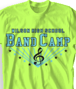 Band Camp T Shirt - Camp Stars desn-470c2