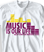 Band Camp T Shirt - Dance Beat desn 313d2