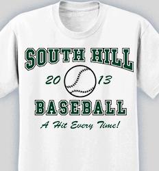 Baseball Shirt Designs - Retro Ball desn-619r2