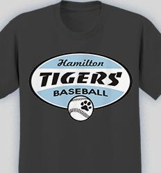 Baseball Shirt Designs - League Oval desn-622l1