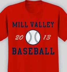 Baseball Shirt Design - Retro Ball desn-619r1