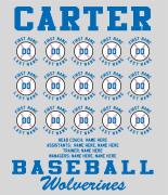Baseball Roster Design - Baseball Lineup desn-627b1