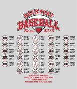 Baseball Roster Design - Players List desn-629p1