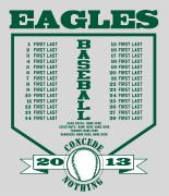 Baseball Shirt Design Ideas baseball roster design players list desn 629p1 Baseball Roster Design Plate Names Desn 631p1