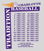 Baseball Roster Design - Tradition Names desn-630t1