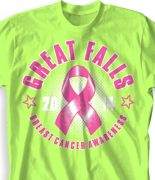 Breast Cancer T Shirt - Rig Ribbon Retreat desn-797b1
