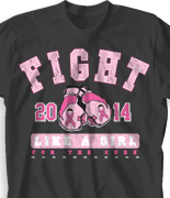Breast Cancer T Shirt - Fight Like A Girl desn-801f1