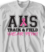 Breast Cancer T Shirt - Classic Letter desn-343e1