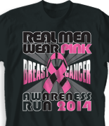 Breast Cancer T Shirt - Real Men Wear desn-798r1