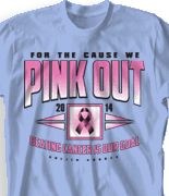 Breast Cancer T Shirt - Pink Out 80 desn-786p1