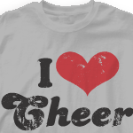 Custom Cheer Shirts - I Heart Vintage 149l1