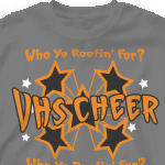 Custom Cheer T-Shirts - Funky Stars 382f1