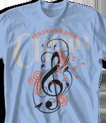 Choir Chorus T Shirt - Peaceful Sounds desn-810p1