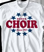 Choir Chorus T Shirt - Patriot clas 447q3