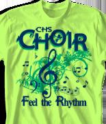 Choir Chorus T Shirt - Au Naturale Sound desn-817a1