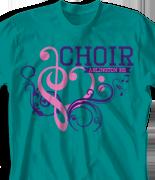 Choir Chorus T Shirt - Choir Love desn-808c1