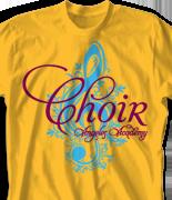 Choir Chorus T Shirt - Exquisito desn-812e1