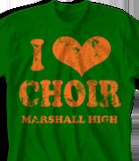 Choir Chorus T Shirt - I Heart Vintage desn-149j1