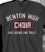 Choir Chorus T Shirt - Athletic clas-480i9