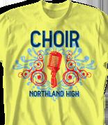 Choir Chorus T Shirt - Our Voice desn-809o1