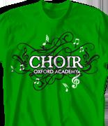 Choir Chorus T Shirt - Choir Groove desn-582c1