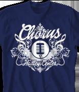 Choir Chorus T Shirt - College Choir desn-806c2
