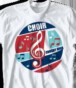 Choir Chorus T Shirt - Jive desn-818j1