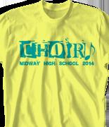 Choir Chorus T Shirt - Punk Rock clas-540s6