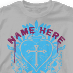 Church Design T Shirt - Corazon 306c1