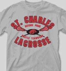 College T Shirts - LAX Pride desn-356l1