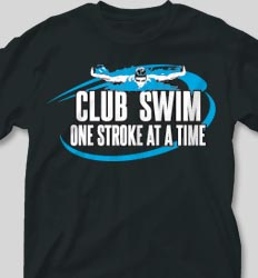 College T Shirts - Club Swim cool-69c1