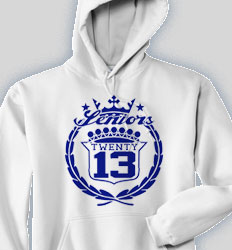 Senior Hooded Sweatshirt - Famous Crest desn-591f2