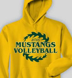 Volleyball Hooded Sweatshirt - Hawaiian Crown2 clas-484h4