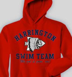 Swimming Hooded Sweatshirt - Athletic clas-480d5